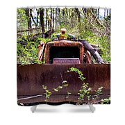 Caterpillar Rough Shower Curtain