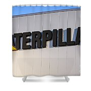 Caterpillar Sign Picture Shower Curtain by Paul Velgos