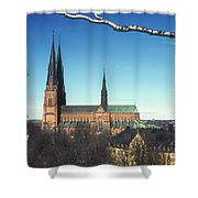 Cathedral At Uppsala Shower Curtain