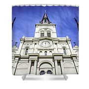 Cathedral-basilica Of St. Louis King Of France Shower Curtain