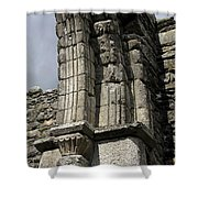 Cathedral Broken Arch At Glendalough Shower Curtain