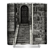 Cathedral Door And Steps Shower Curtain