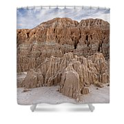 Cathedral Gorge Morning Shower Curtain