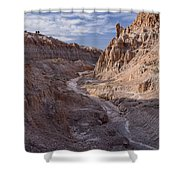Cathedral Gorge Wash Shower Curtain