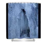 Cathedral Ice Waterfall Shower Curtain