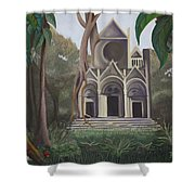 Cathedral In A Jungle Shower Curtain