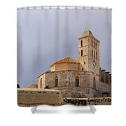 Cathedral In Ibiza Town Shower Curtain