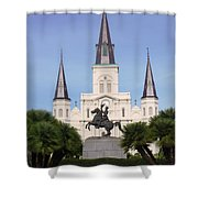 Cathedral In Jackson Square Shower Curtain