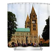 Cathedral In Pecs Shower Curtain