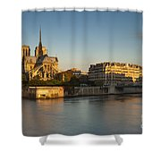 Cathedral Notre Dame - Sunrise Shower Curtain