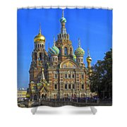 Cathedral Of Christ's Resurrection On Spilled Blood Shower Curtain