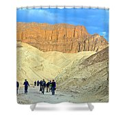 Cathedral Peaks From Golden Canyon In Death Valley National Park-california Shower Curtain