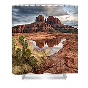 Cathedral Rock After The Storm Shower Curtain
