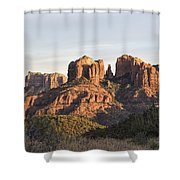 Cathedral Rock At Sunset Shower Curtain