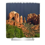 Cathedral Rock Before The Storm Shower Curtain