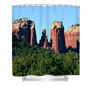 Cathedral Rock Behind The Forest Shower Curtain