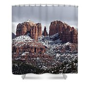 Cathedral Rock In Winter Arizona Shower Curtain