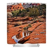 Cathedral Rock In Winter Shower Curtain