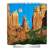 Cathedral Rock Moon Shower Curtain