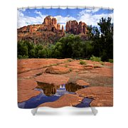 Cathedral Rock Reflections Shower Curtain