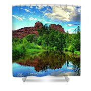 Cathedral Rocks At Red Rock Crossing Shower Curtain