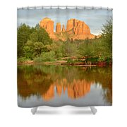 Cathedral Rocks Reflection Shower Curtain