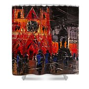 Cathedral Saint Jean-baptiste In Lyon Shower Curtain