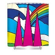 Cathedral Spires Stained Glass Lichfield Shower Curtain