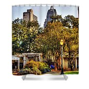 Cathedral Sq. And Rsa Shower Curtain