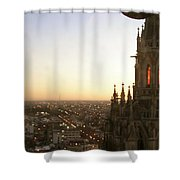 Cathedral Sunset - La Plata Shower Curtain