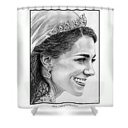 Catherine - Duchess Of Cambridge In 2011 Shower Curtain by J McCombie