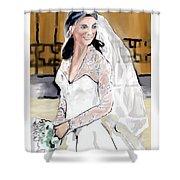 Catherine Duchess Of Cambridge Print  Shower Curtain by Eric  Schiabor