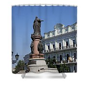 Catherine The Great Statue Odessa Shower Curtain