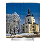 Catholic Church In Town Of Krizevci Shower Curtain