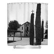 Catholic Church Pisinemo Arizona Tohono O'odham Indian Reservation 1973 Shower Curtain