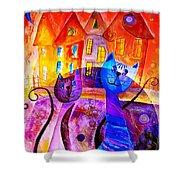 Cats 0366 Marucii Shower Curtain