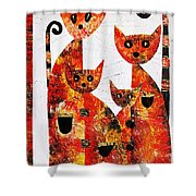 Cats 727 Shower Curtain