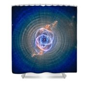 Cat's Eye Nebula Shower Curtain