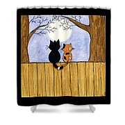 Cats Night Out Shower Curtain