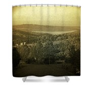 Catskill Mountains New York  Barn-shandelee - Featured In Comfortable Art And All About Ny Groups Shower Curtain