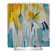 Cattail Sun Shower Curtain