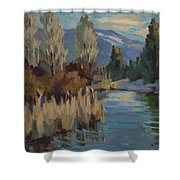 Cattails At Harry's Pond 1 Shower Curtain