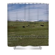 Cattle And Bible Verse Shower Curtain