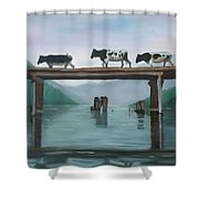 Cattle Crossing Shower Curtain