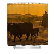 Cattle Drive 10 Shower Curtain