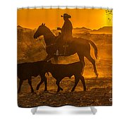 Cattle Drive 13 Shower Curtain