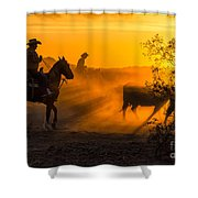 Cattle Drive 14 Shower Curtain