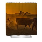 Cattle Drive 16 Shower Curtain