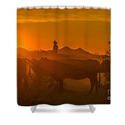Cattle Drive 21 Shower Curtain