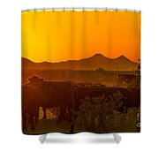 Cattle Drive 24 Shower Curtain